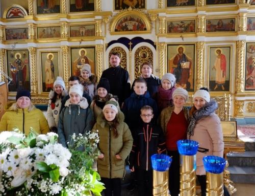 Экскурсия по храму для школьников