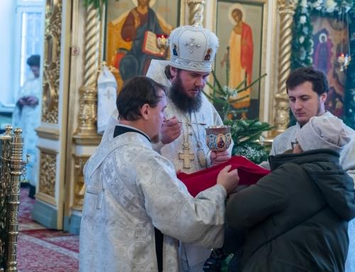 Архиерейская служба в день отдания праздника Рождества Христова