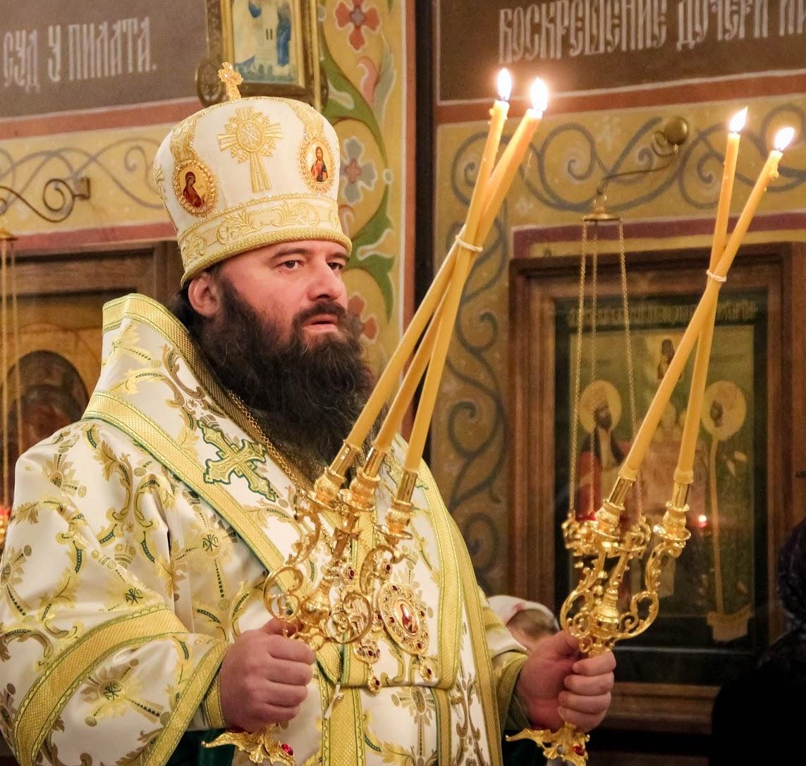 Архиерейское богослужение в Рождествено